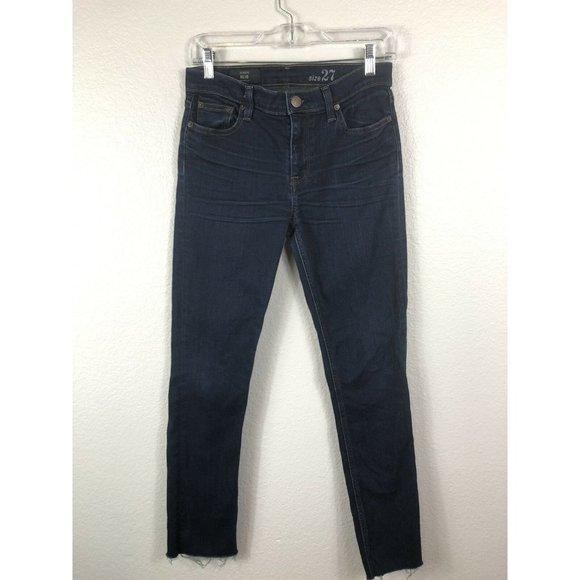 J. Crew Reid Jeans Dark Wash Classic Mid-Rise 27